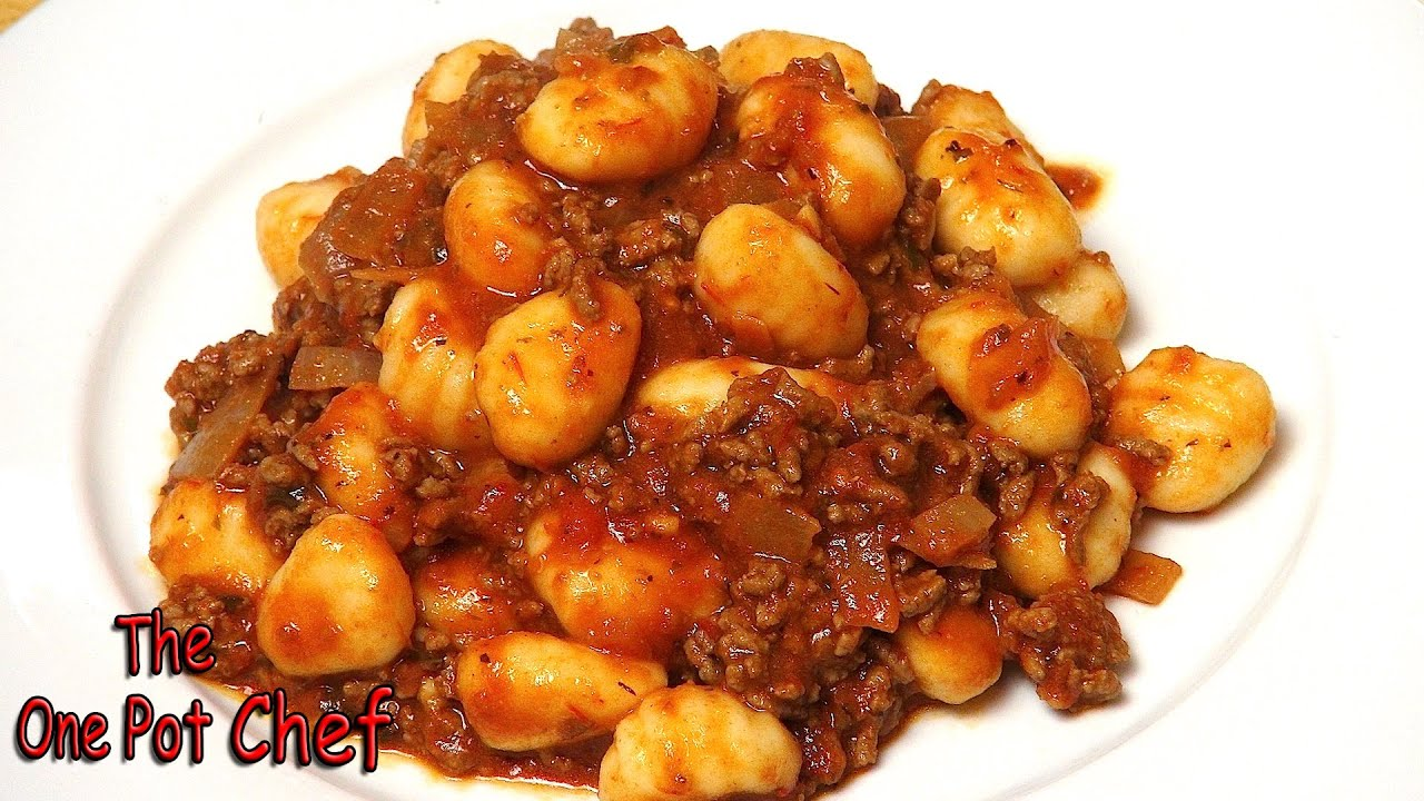 meat sauce gnocchi with meat sauce this potato gnocchi with quick meat ...