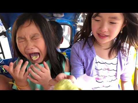 Eating Exotic fruit challenge   durian   TOYS GIVEAWAY   kids videos