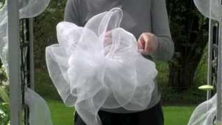 How to make a Deco Mesh Bow (Sinamay)
