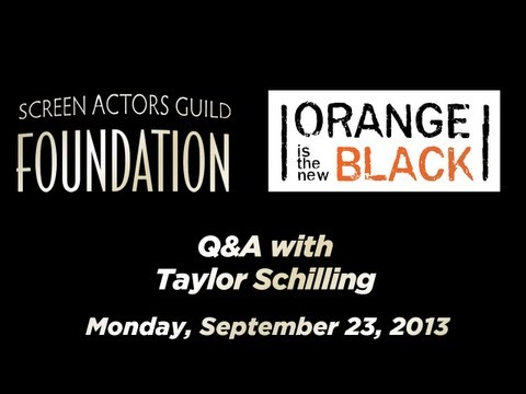 Conversations with Taylor Schilling of ORANGE IS THE NEW BLACK
