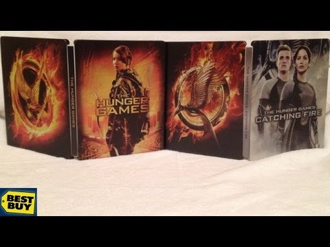 The Hunger Games SteelBook / Catching Fire Best Buy Exclusive Blu-ray Unboxing - Jennifer Lawrence