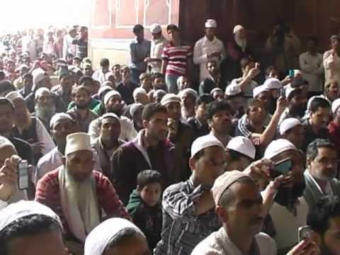 Chairman APHC Mirwaiz Umar Farooq at Jamia Masjid Delhi 17/02/2012.