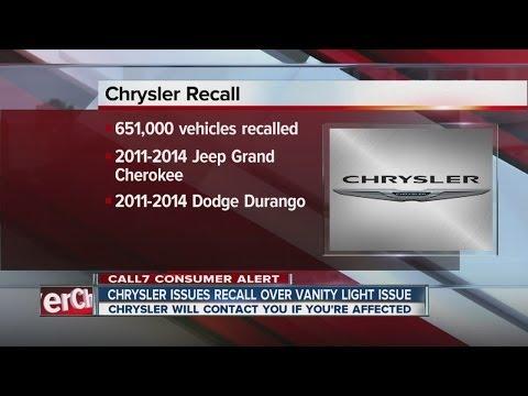Chrysler recalls 651K Jeep, Dodge SUVs for mirror lights