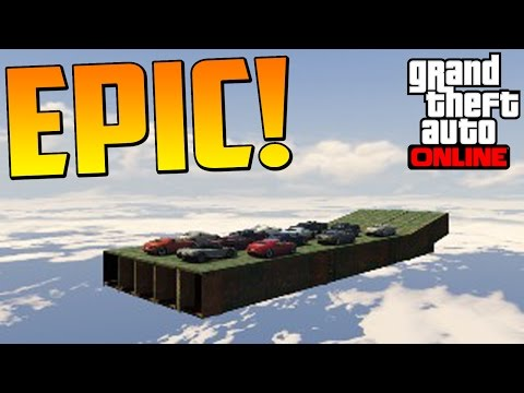 MEGA SALTO!! DESDE EL CIELO!!! - Gameplay GTA 5 Online Funny Moments