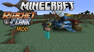 Minecraft: SO MANY WEAPONS! (Ratchet and Clank Mod Showcase)
