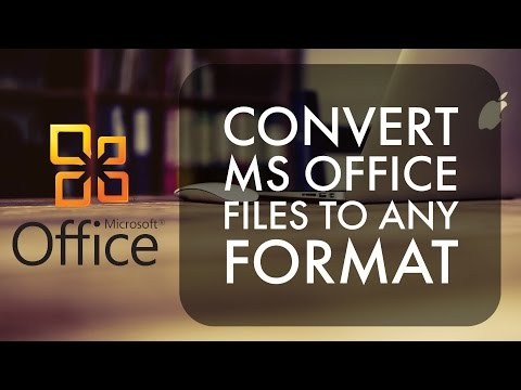 How to Convert Ms Office Documents to PDF/JPG