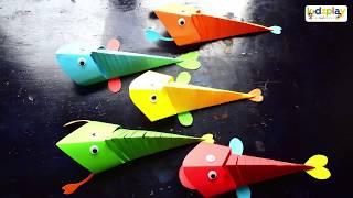 GÓC STEAM: Hướng dẫn bé làm cá giấy