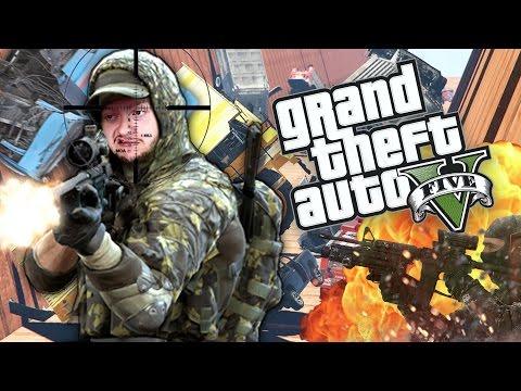 GIANT CAR AVALANCHE! | GTA 5 Funny Moments (Custom Game)