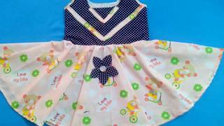frock, Baby Frock cut and stitch, Baby girl dress Tutorial for beginners