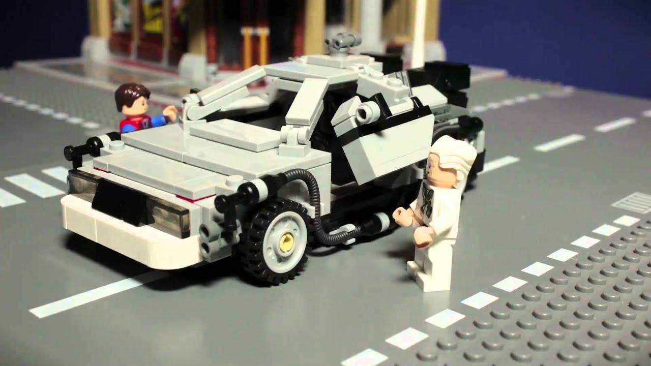 Lego Back To The Future Delorean Youtube