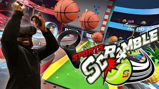 THROWING BASKETBALLS IN VIRTUAL REALITY w/ OCULUS QUEST!