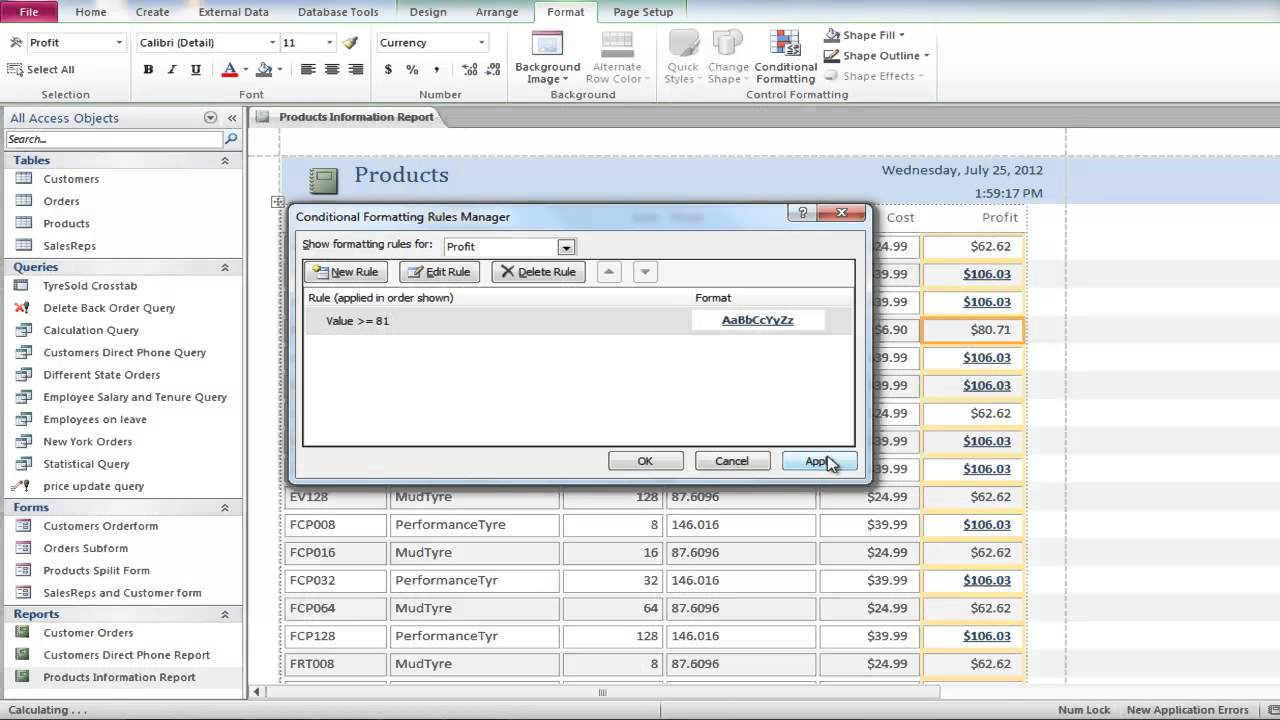 How To Add Conditional Formatting And Data Bars To Reports