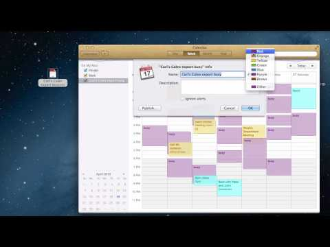 How to: Import a ICS Calendar File on Mac