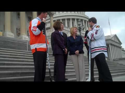 Pelosi Drops the Puck for Quigley and Murphy