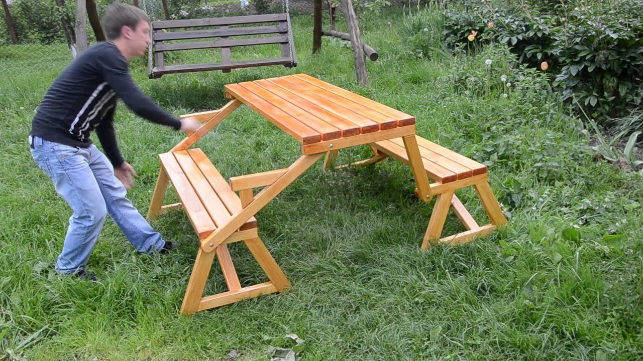 Скамейка и стол своими руками из дерева чертежи фото