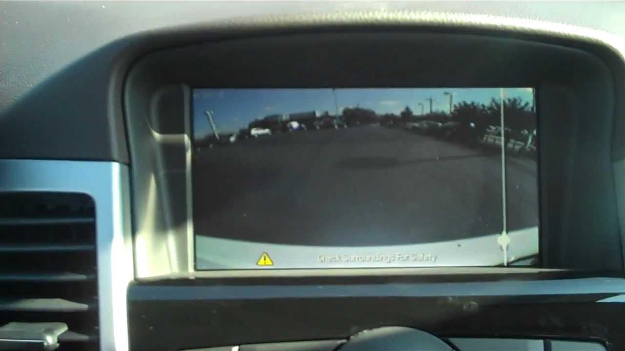 2013 Chevrolet Cruze rear view camera information - YouTube