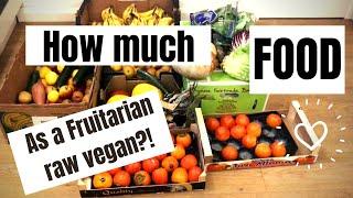 How much food as a fruitarian/ raw vegan?