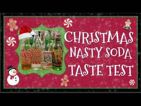 Christmas Holiday Nasty Soda Taste Test Ugly Sweater Edition