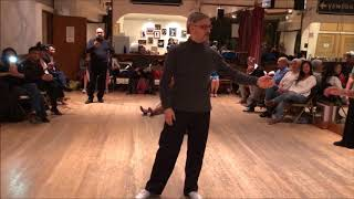 Tango Lesson: Consecutive Colgadas in Open Turn