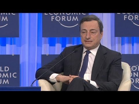 Davos participants avoid seeming too hopeful, Draghi talks down deflation fears - economy