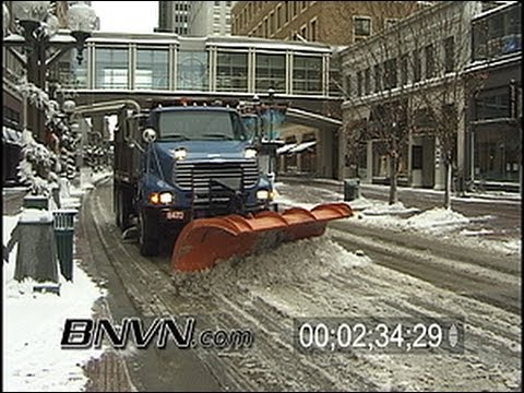 Various 2003 Snow plow video. Snow clean up video