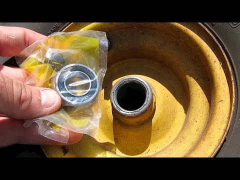 How To Replace Install Wheel Bearings Riding Lawnmower
