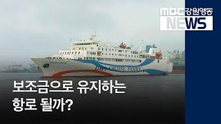집중R③)보조금으로 유지하는 항로 될까?