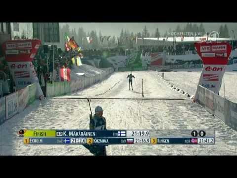 Magdalena Neuner - 26th World Cup win - Hochfilzen Sprint, Dec 2011
