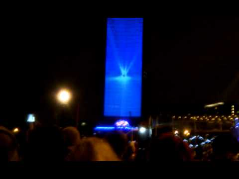 Millbank tower projection,Nokia Lumia 800,DeadMau5,28/11/2011