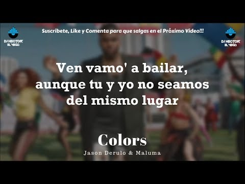 Maluma & Jason Derulo - Colors (Letra/Lyrics) MP3