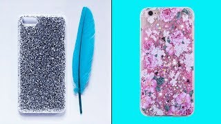 Multi Color Mobile Cover Decoration | Phone Diy Projects Easy | Mobile Case Decoration | NK Crafts
