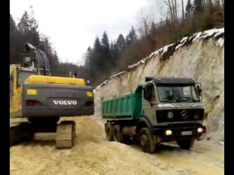 nalaganje stene na kamion UKRADEN!!! STOLEN!!!