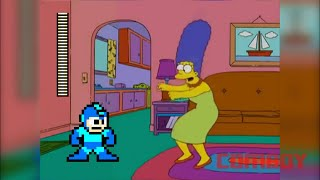 Marge vs Mega Man