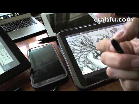 Crabfu Review. Digital Art Tools (Pressure Sensitive + Draw on Screen)