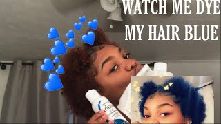 DYING MY HAIR BLUE WITHOUT BLEACH‼️💙(color remover used )