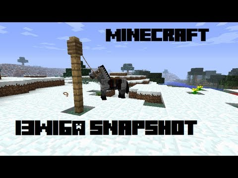 Minecraft - Snapshot 13w16a Review - Horses. Carpets. and More!