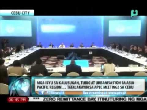Mga Isyu sa kalusugan, tubig at urbanisasyon sa Asia Pacific Region, tatalakayin sa APEC meetings