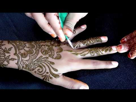 Latest floral arabic mehndi design for front hands ||mehndi designs