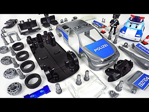 Villain broke car! Robocar Poli, Tayo! Repair with Revell Police Car assembly Model Kit- DuDuPopTOY