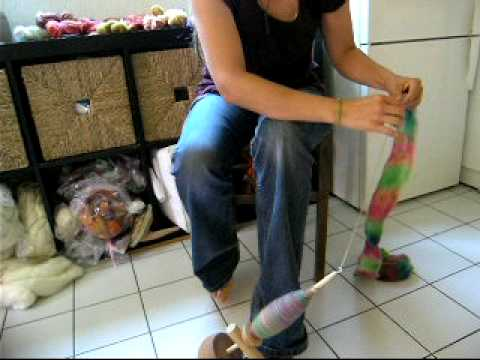 Spinning with my kick-spindle