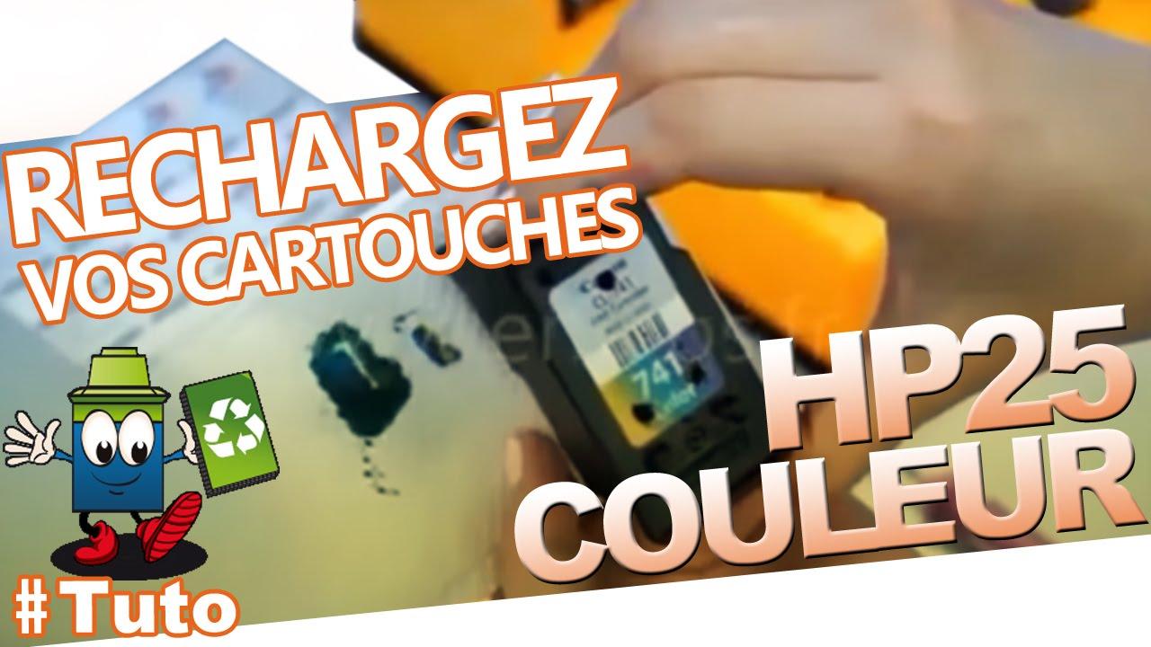 25 hp cartouche hp25 couleur comment recharger la. Black Bedroom Furniture Sets. Home Design Ideas