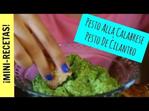 Pesto alla Calabrese y Pesto de Cilantro - Mini Receta La Cooquette