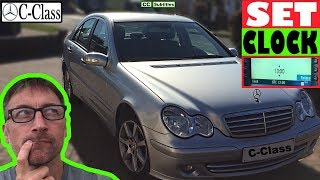 How to set Clock on Mercedes C-Class - How to set time on Mercedes C-Class