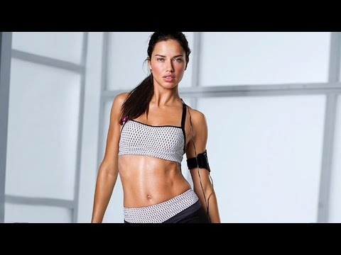 Adriana Lima Workout By Herself  | Official HD Video – 2014