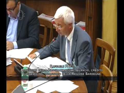 Roma - Politiche UE in Italia, audizione Assessore Sardegna, Paci (18.09.14)