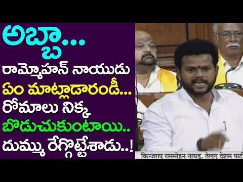 Srikakulam MP Ram Mohan Naidu Extra Ordinary Speech In Lok Sabha, Andhra Hindi, Take One Media, TDP