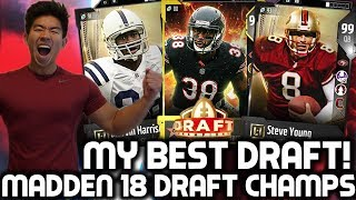 MY BEST DRAFT! BEAST TEAM! Madden 18 Draft Champions