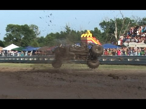 VIOLENT MUD DRAG CRASH - Mud Down in T-Town