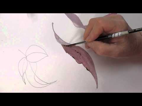 Leaves Painting Painting Curved Leaves in