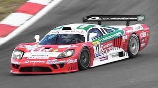Saleen S7-R GT1 racing at Nürburgring - 7.0L V8 engine pure sound!